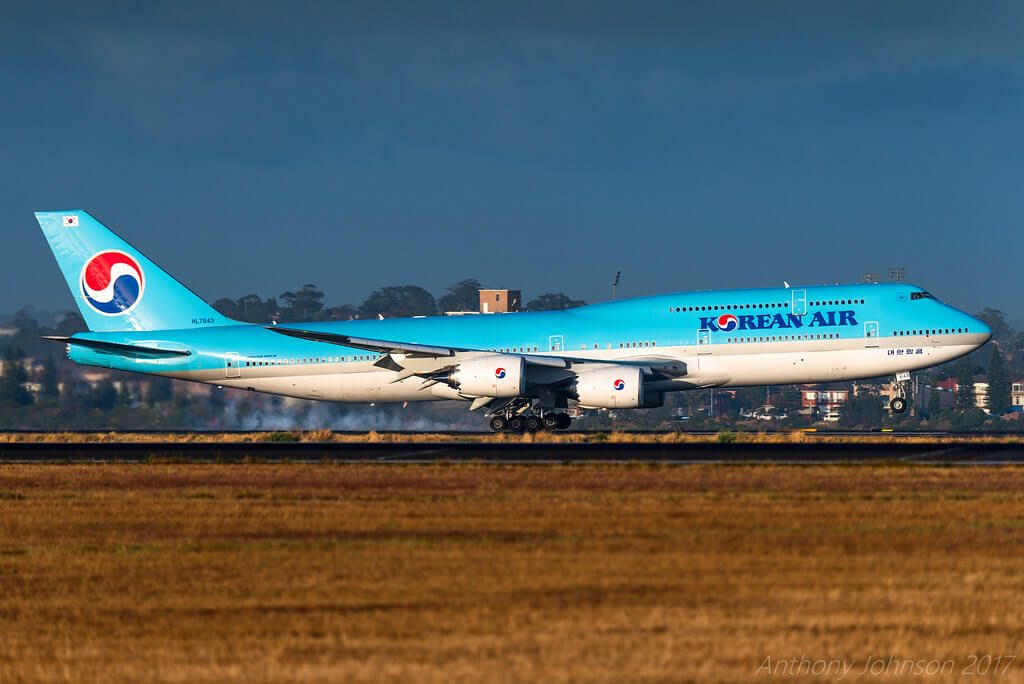 Boeing 747 8B5 Korean Air HL7643 at Sydney Airport
