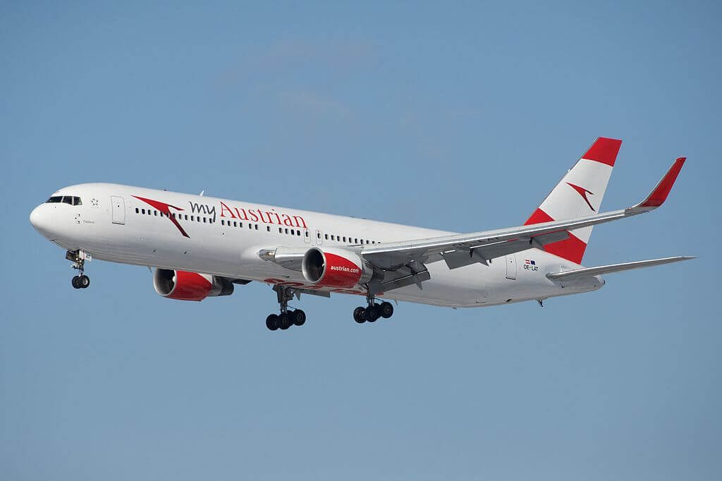 Boeing 767 31AERWL OE LAT Thailand Austrian Airlines at Toronto Pearson International Airport