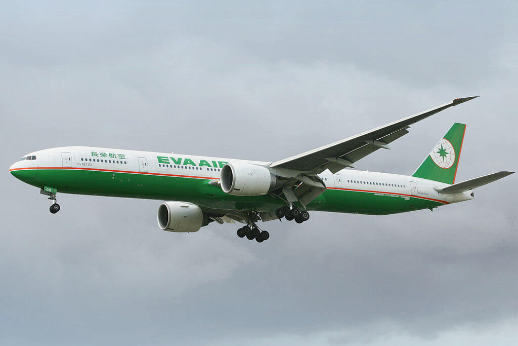 Boeing 777 35EER B 16708 EVA Air at London Heathrow Airport