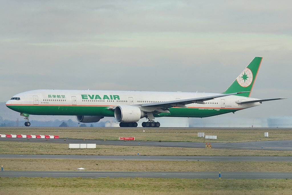 Boeing 777 35EER EVA Air B 16705 at Paris Charles de Gaulle Airport