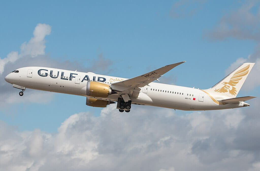 Boeing 787 9 Dreamliner A9C FC Gulf Air at London Heathrow Airport