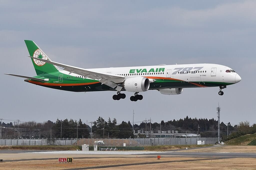 Boeing 787 9 Dreamliner B 17882 EVA Air at Narita International Airport