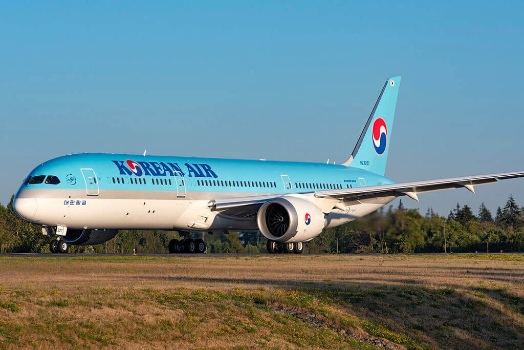 Boeing 787 9 Dreamliner Korean Air HL7207