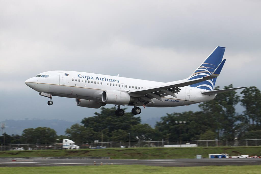 Copa Airlines Boeing 737 7V3WL HP 1374CMP at Juan Santamaría International Airport