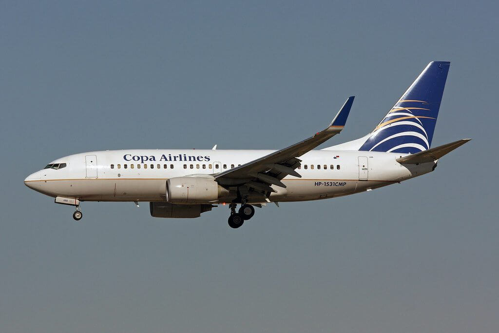 Copa Airlines Boeing 737 7V3WL HP 1531CMP at Miami International Airport
