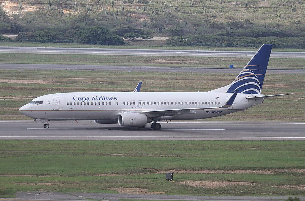 Copa Airlines Boeing 737 8V3WL HP 1538CMP at Caracas Simon Bolivar