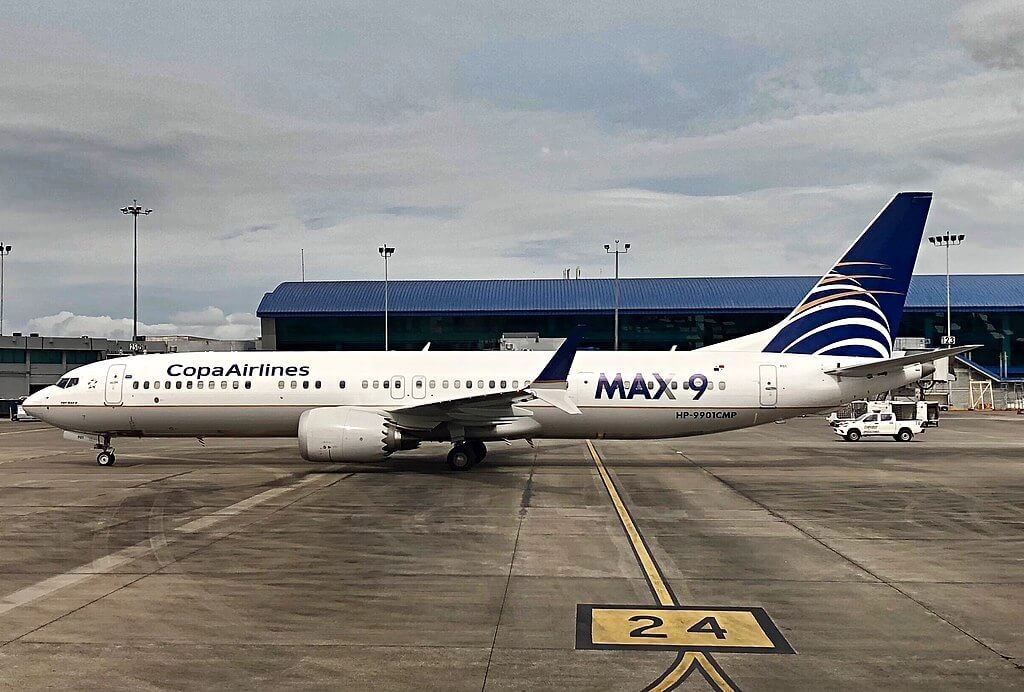 Copa Airlines Boeing 737 9 MAX HP 9901CMP at Panama City Tocumen International airport