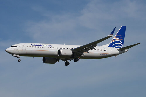 Copa Airlines Boeing 737 9 MAX HP 9902CMP