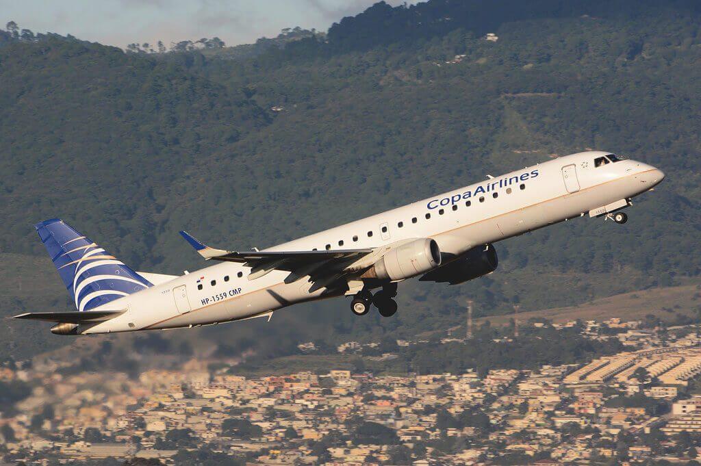 Copa Airlines Embraer ERJ 190AR ERJ 190 100 IGW HP 1559CMP at Guatemala City La Aurora
