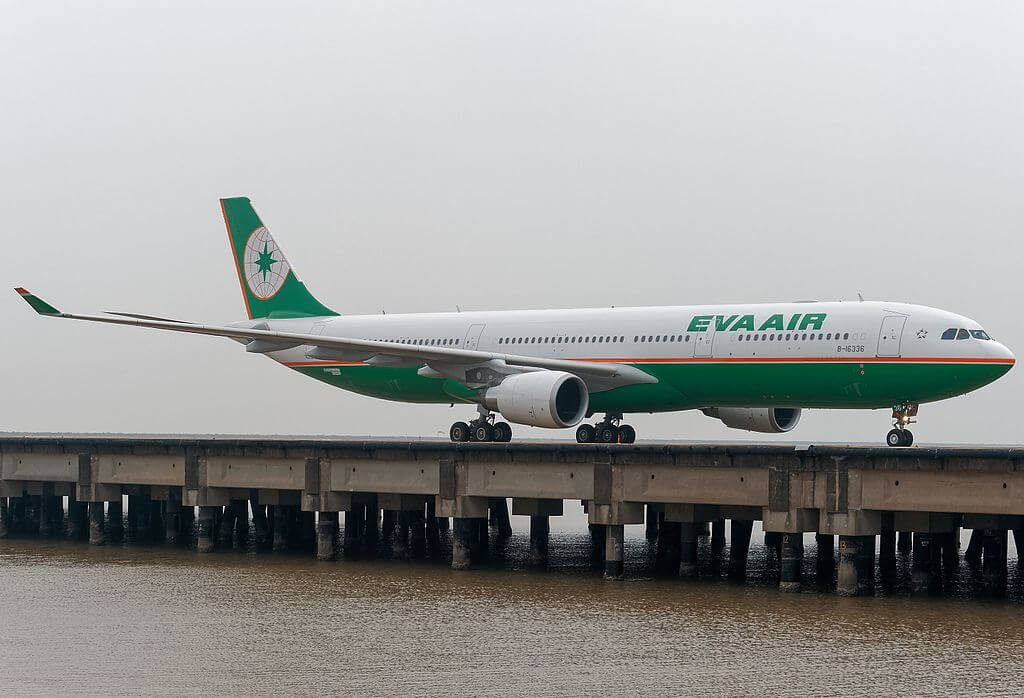 EVA Air Airbus A330 302 B 16336 at Macau International Airport