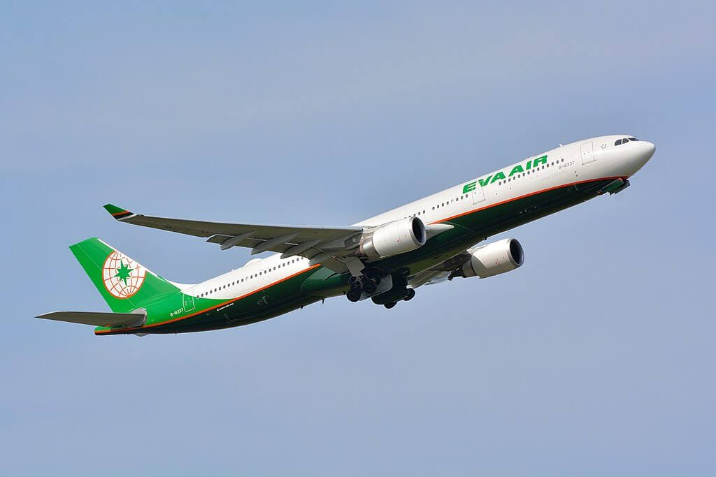 EVA Air Airbus A330 302 B 16337 at Narita Airport