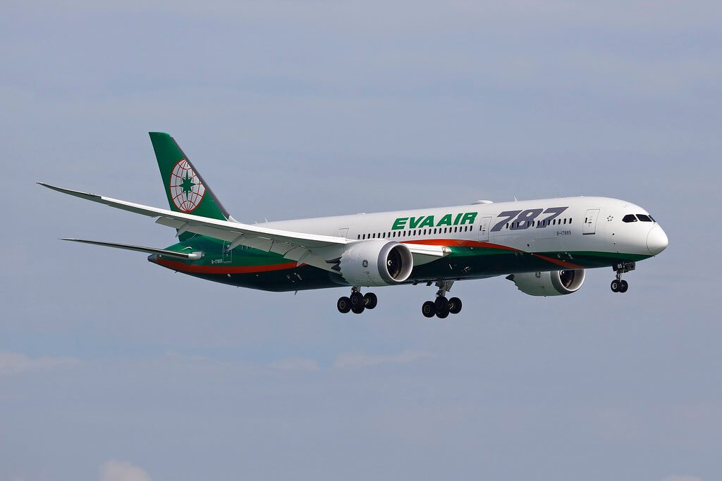 EVA Air Boeing 787 9 Dreamliner B 17885 at Hongkong Airport