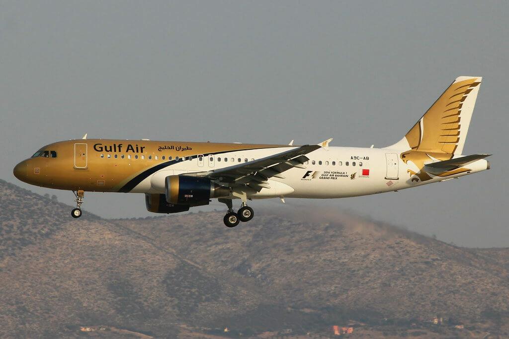 Gulf Air Airbus A320 214 A9C AB at Athens Eleftherios Venizelos