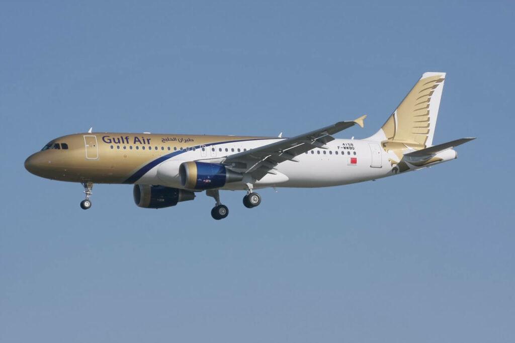 Gulf Air Airbus A320 214 A9C AF at Hamburg