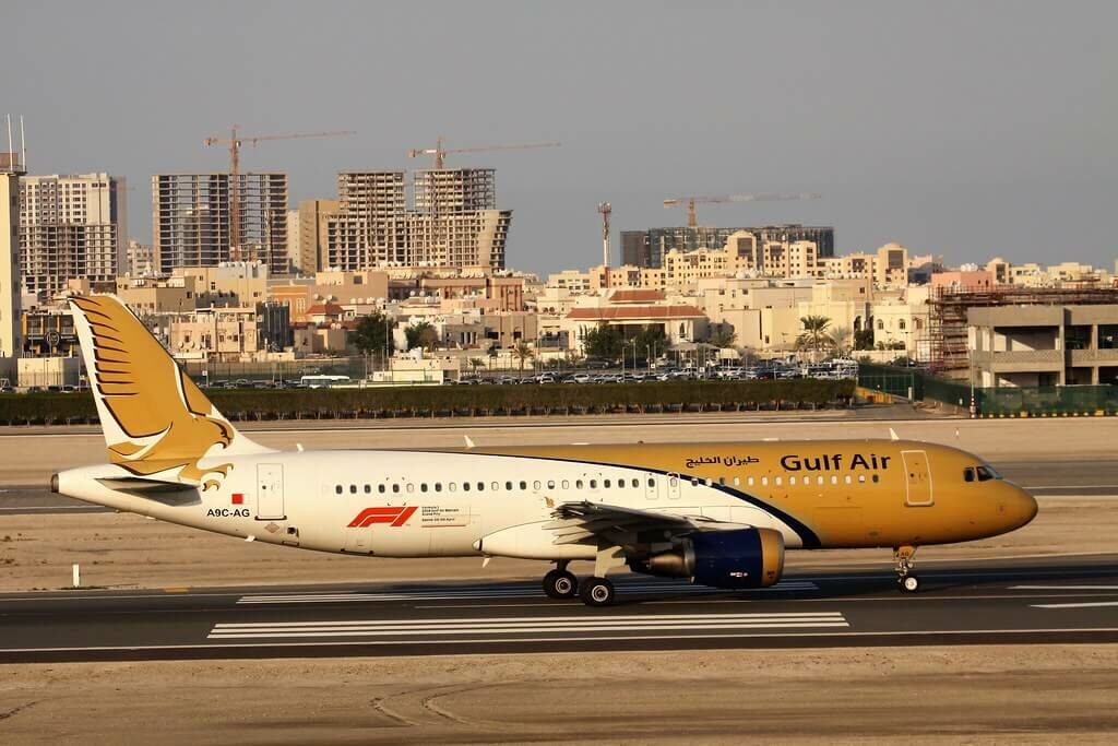 Gulf Air Airbus A320 214 A9C AG at Bahrain Airport
