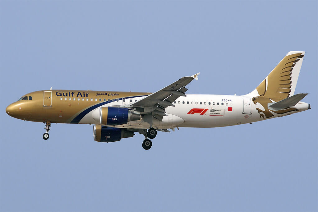 Gulf Air Airbus A320 214 A9C AI at Dubai International Airport