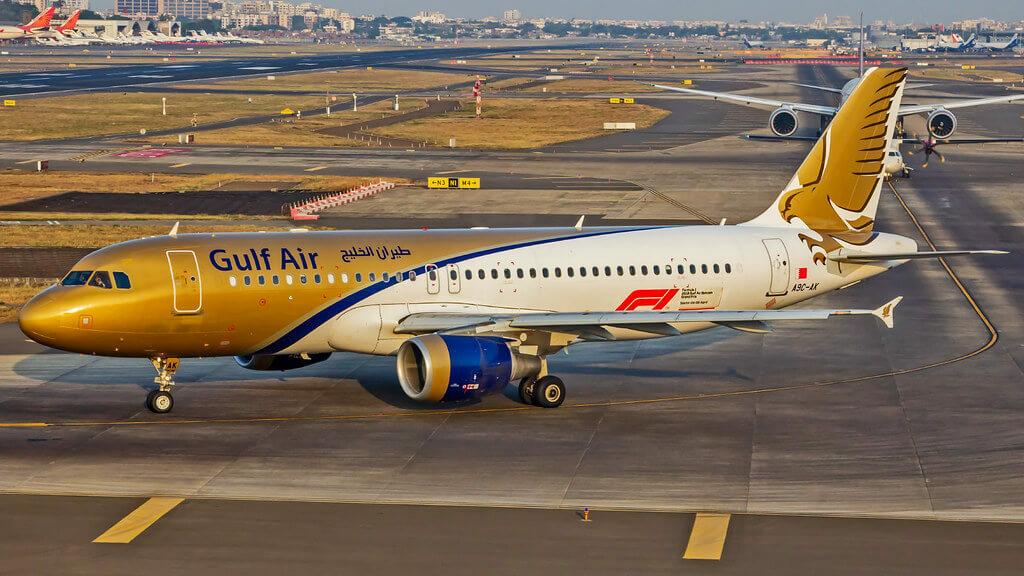 Gulf Air Airbus A320 214 A9C AK at Mumbai Chhatrapati Shivaji