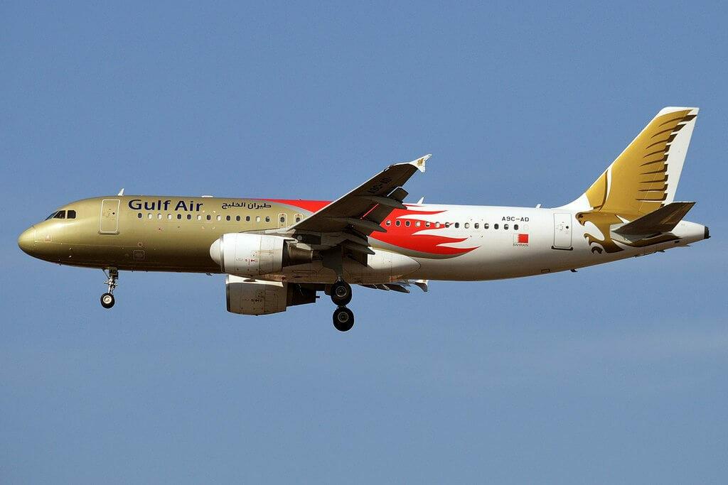 Gulf Air Bahrain Grand Prix 2015 Livery Airbus A320 214 A9C AD at Istanbul Atatürk Airport