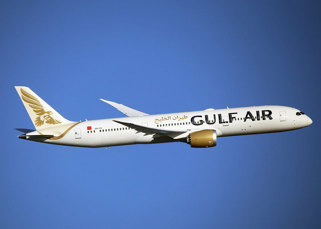 Gulf Air Boeing 787 9 Dreamliner A9C FD at London Heathrow Airport