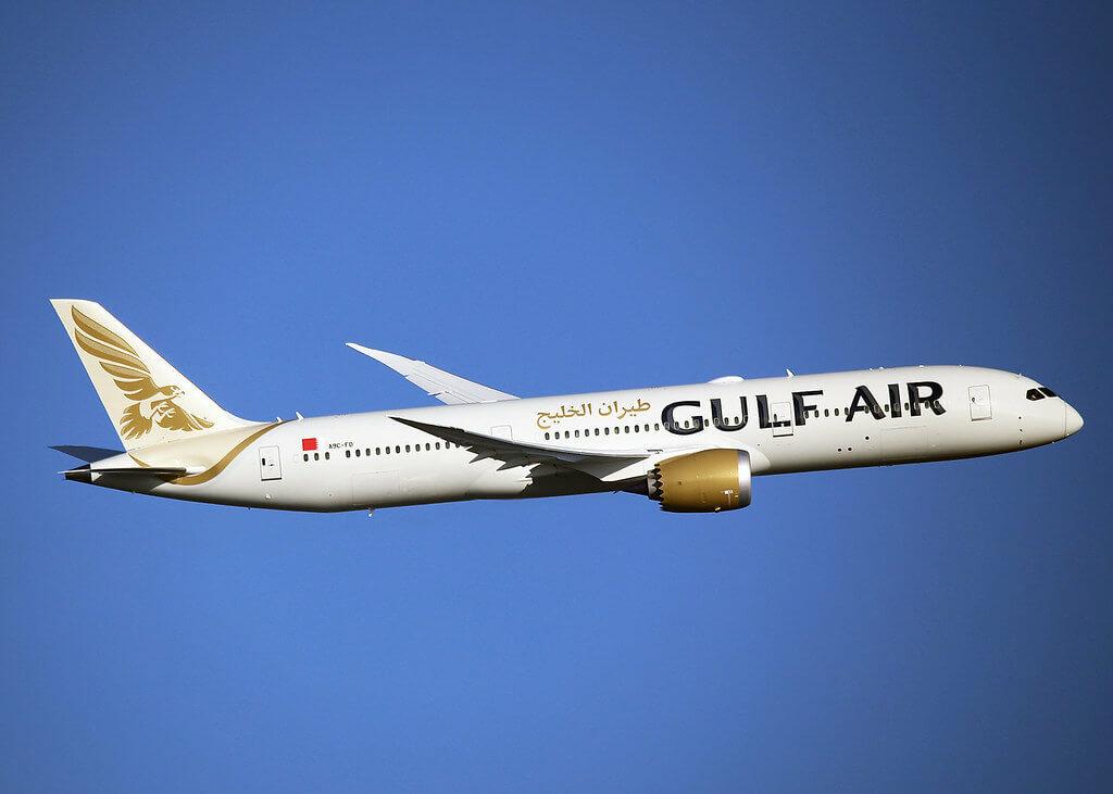 Gulf Air Boeing 787 9 Dreamliner A9C FD at London Heathrow Airport