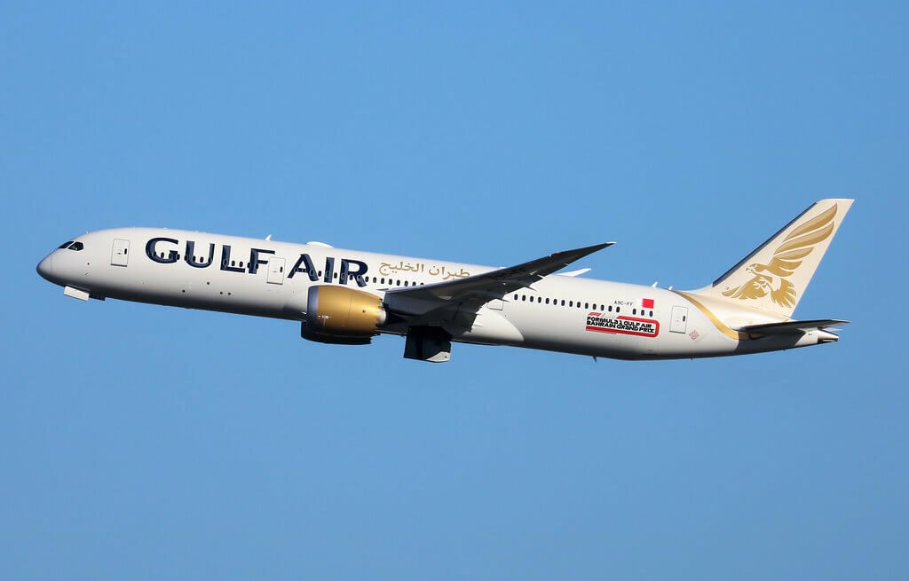 Gulf Air Boeing 787 9 Dreamliner A9C FF at LHR Airport