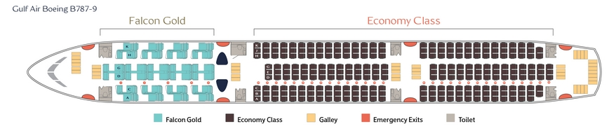 Gulf Air Boeing 787 9 Dreamliner Seating Plan