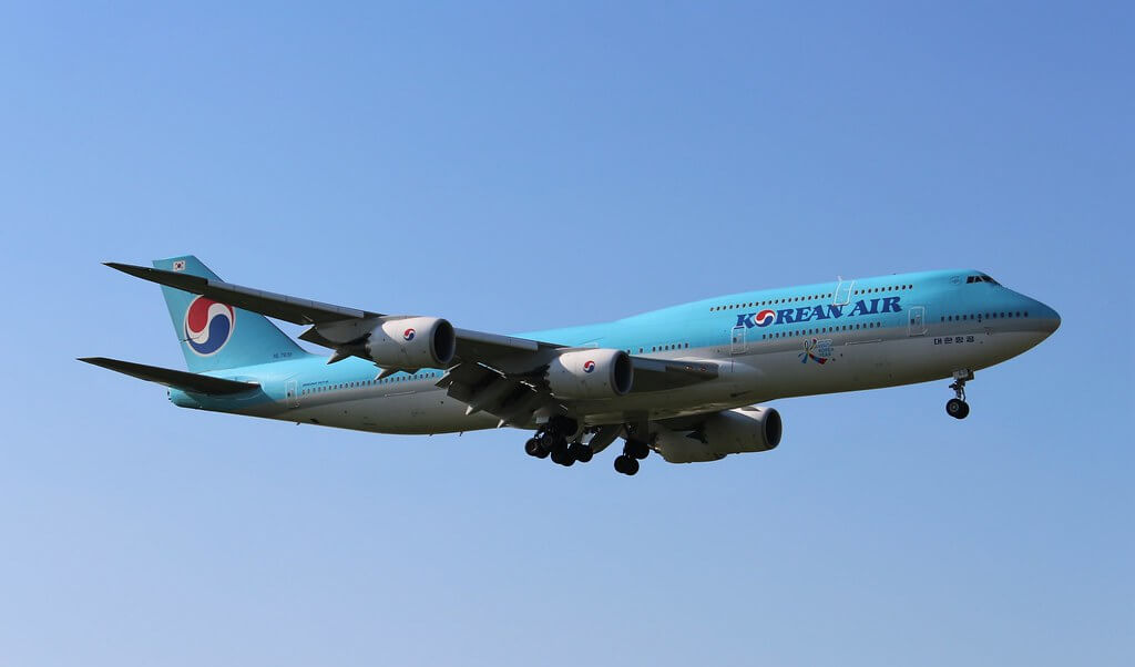 HL7631 Boeing 747 8B5 Korean Air at London Heathrow Airport