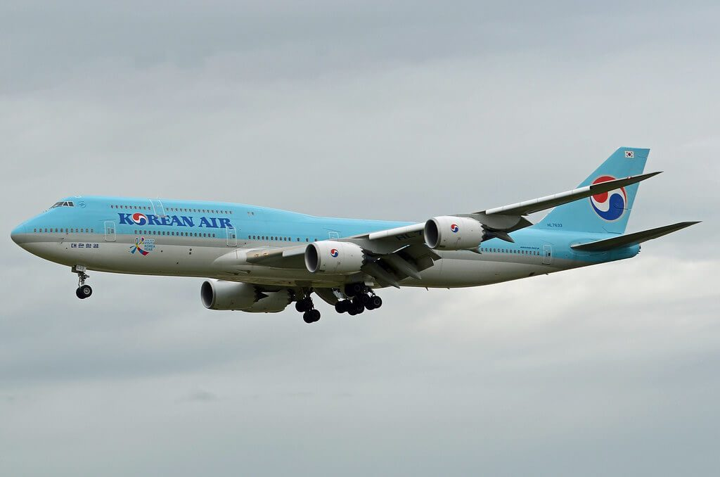 Korean Air Boeing 747 8B5 HL7633 at Frankfurt Airport