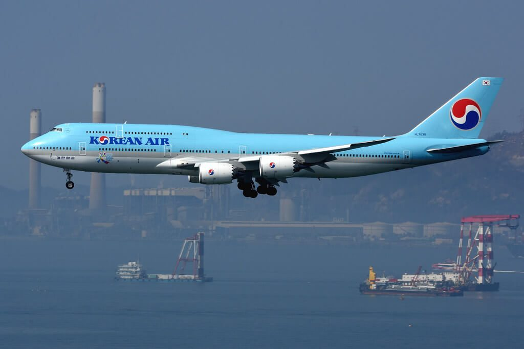 Korean Air Boeing 747 8B5 HL7638 at Hong Kong International Airport