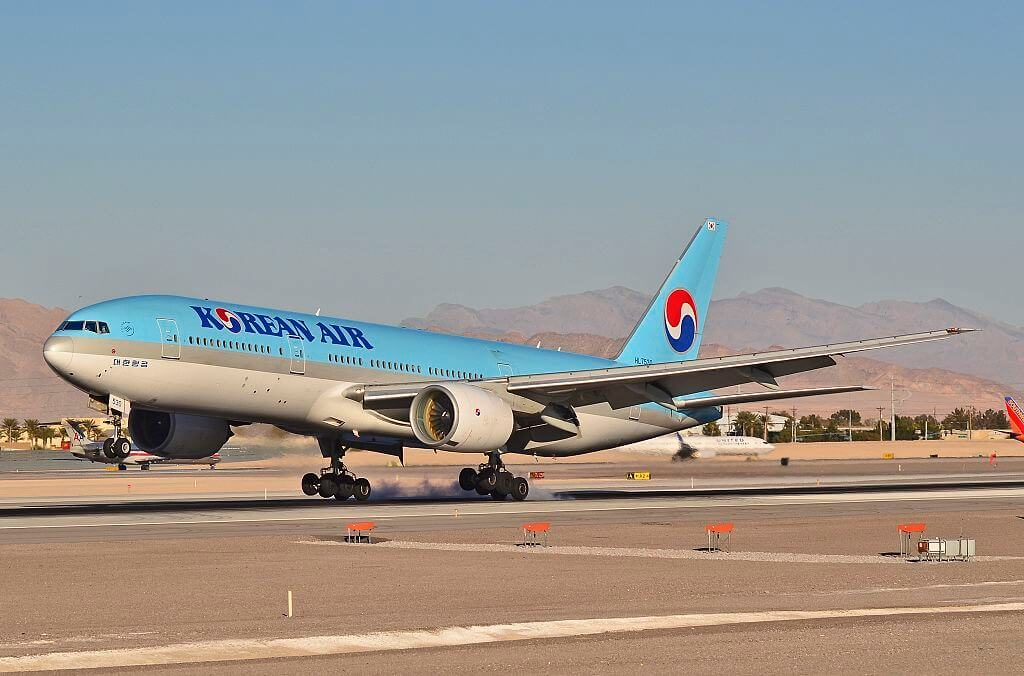 Korean Air Boeing 777 2B5ER HL7530 at McCarran International Airport