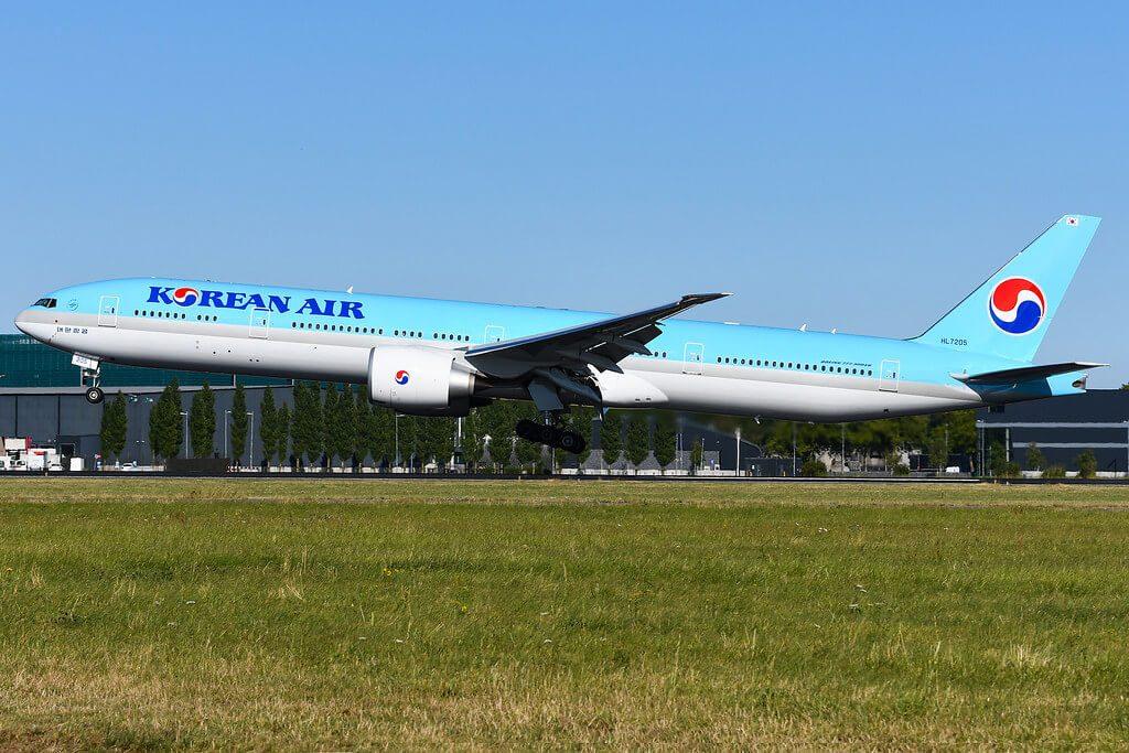 Korean Air Boeing 777 3B5ER HL7205 at Amsterdam Schiphol Airport