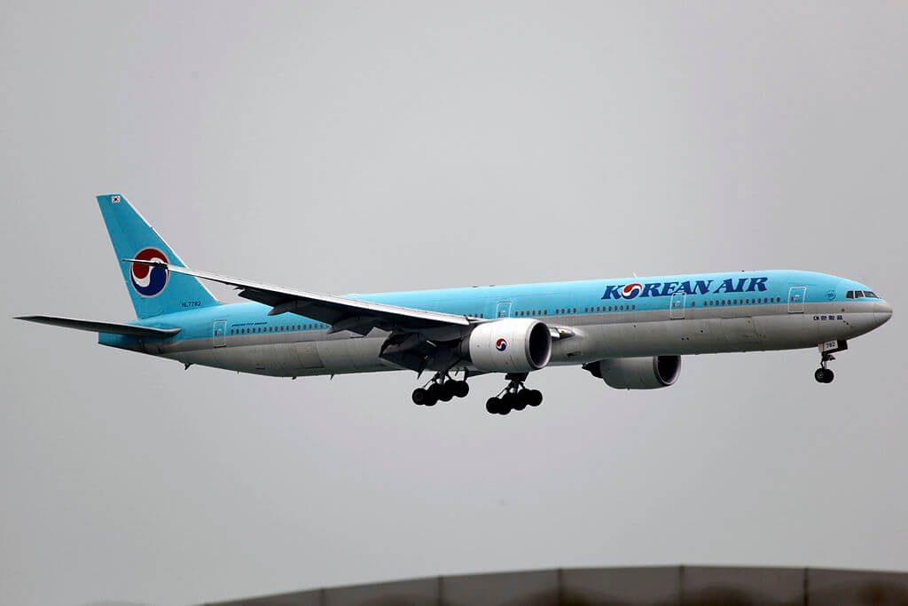 Korean Air Boeing 777 3B5ER HL7782 at Hong Kong Chek Lap Kok International Airport