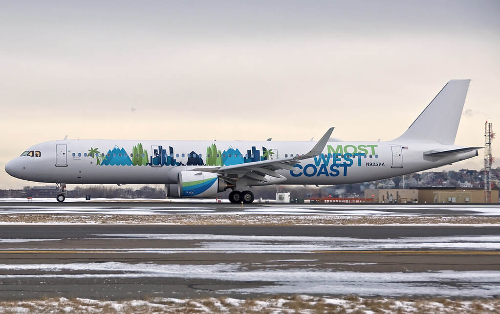 N925VA Alaska Airlines Airbus A321 NEO More West Coast Special Livery at Logan Airport
