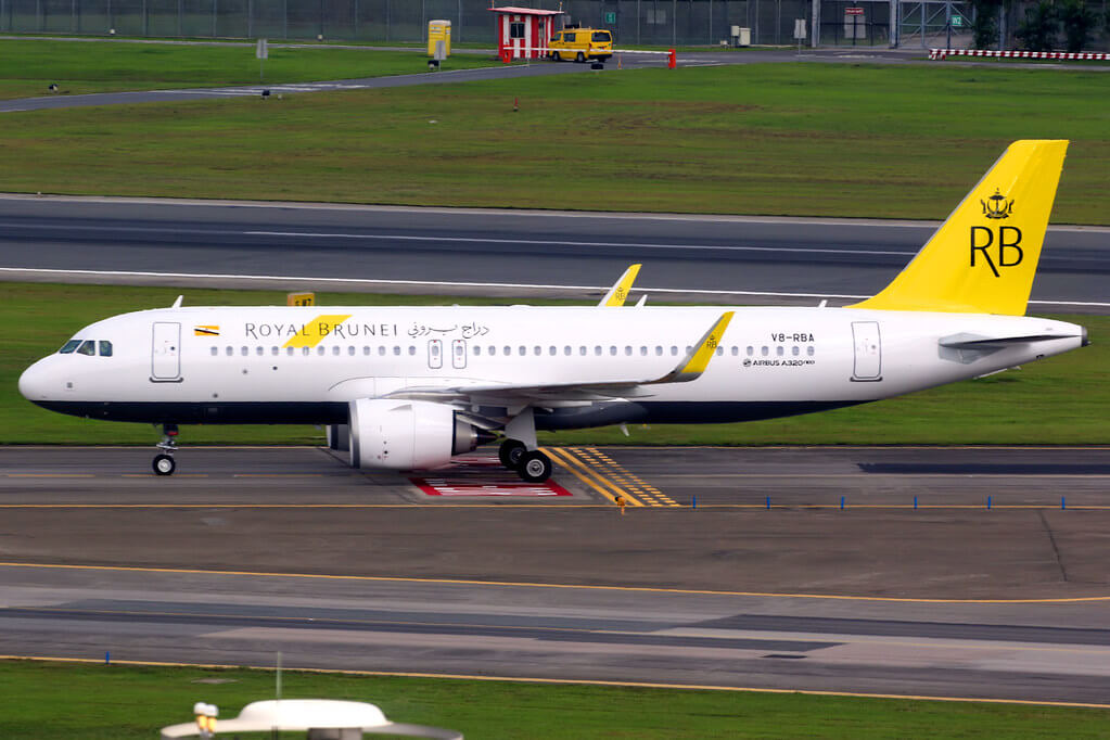 Royal Brunei Airbus A320 251N V8 RBA at Singapore Changi