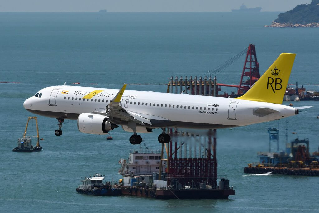Royal Brunei Airbus A320 251N V8 RBB at Hongkong International Airport