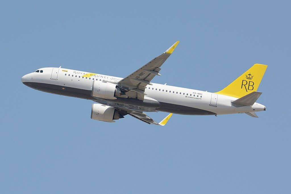 Royal Brunei Airbus A320 251N V8 RBC at Narita International Airport