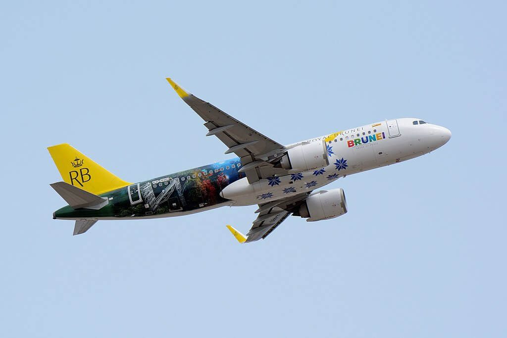 Royal Brunei Airbus A320 251N V8 RBD Brunei Tourism Livery at Narita International Airport