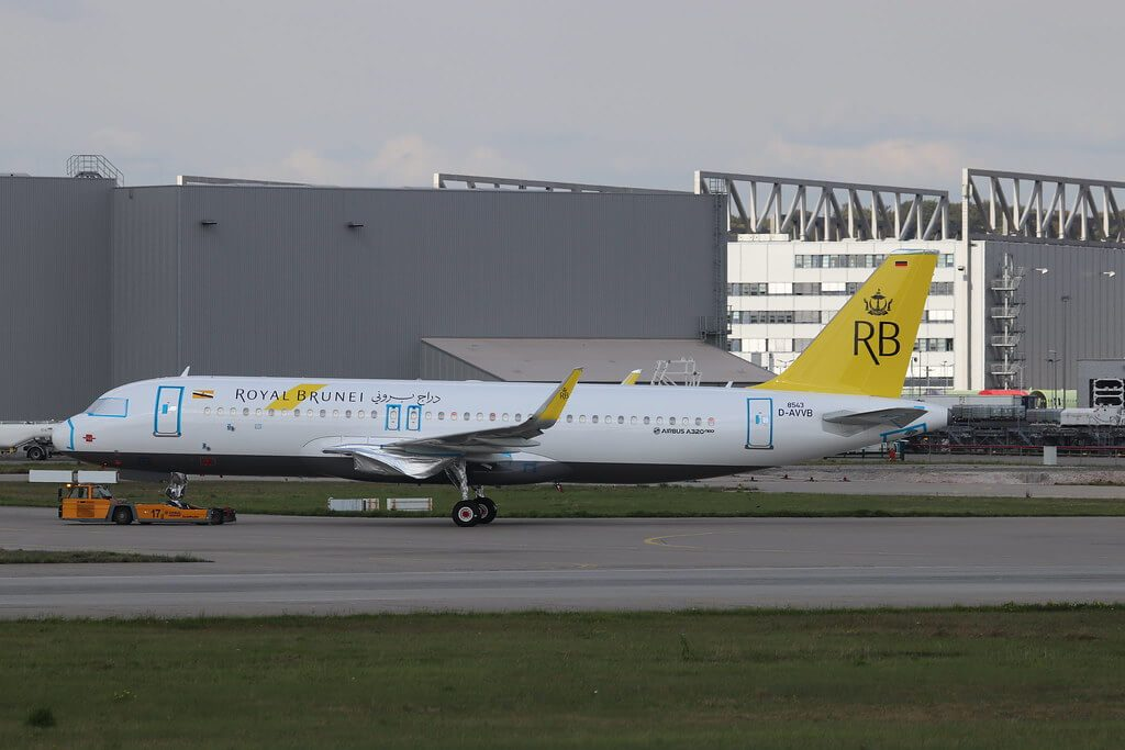 Royal Brunei Airbus A320 251N V8 RBF at Toulouse Blagnac Airport