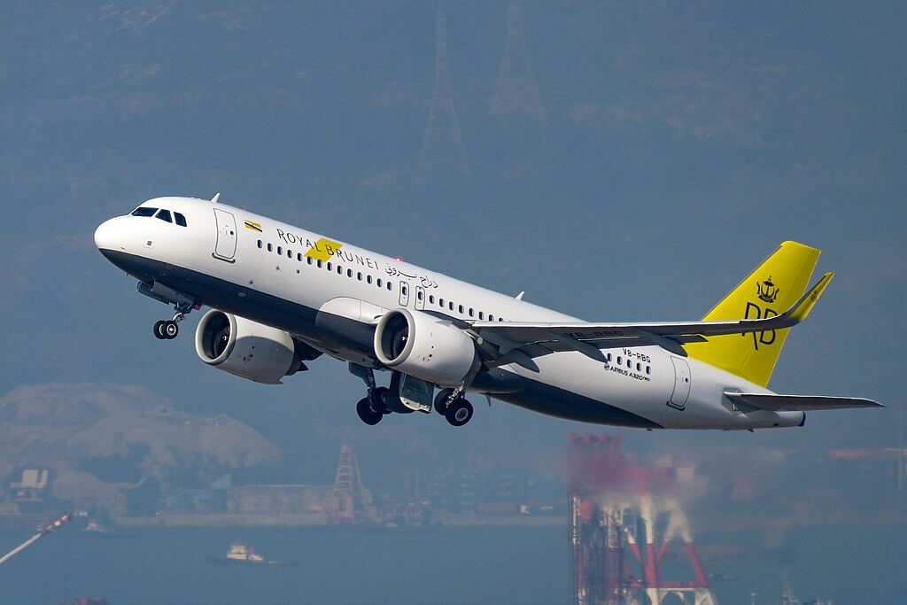 Royal Brunei Airbus A320 251N V8 RBG at Hongkong International Airport