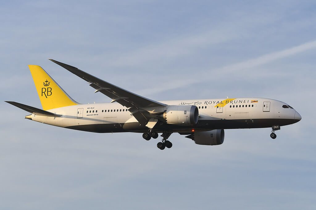 Royal Brunei Airlines Boeing 787 8 Dreamliner V8 DLE at LHR Airport