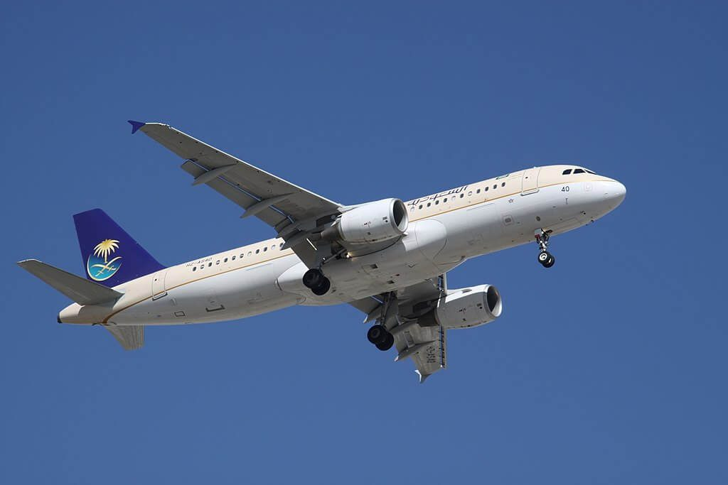 Saudia Airbus A320 214 HZ AS40 at Dubai International Airport