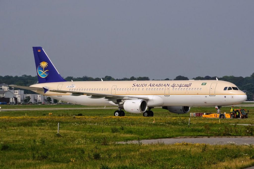 Saudia Airbus A321 211 HZ ASM at Toulouse Blagnac Airport
