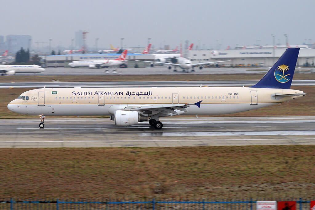 Saudia Airbus A321 211 HZ ASN