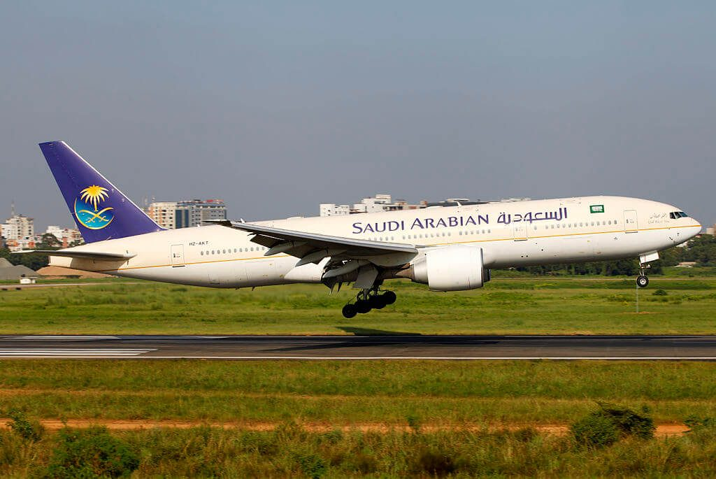 Saudia Boeing 777 268ER HZ AKT at Shahjalal International Airport