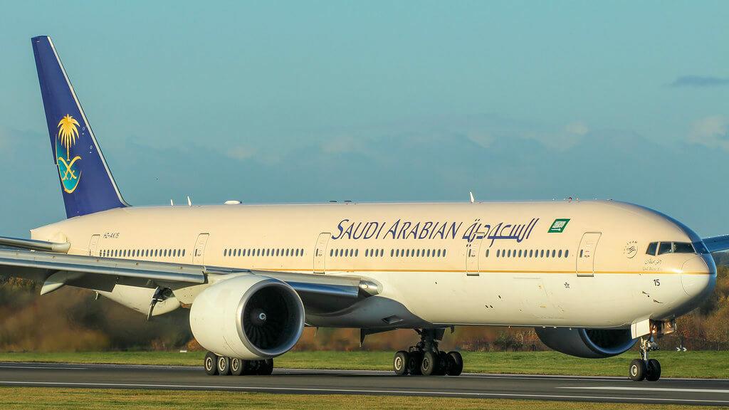 Saudia Boeing 777 368ER HZ AK15 at Manila Ninoy Aquino Airport 1