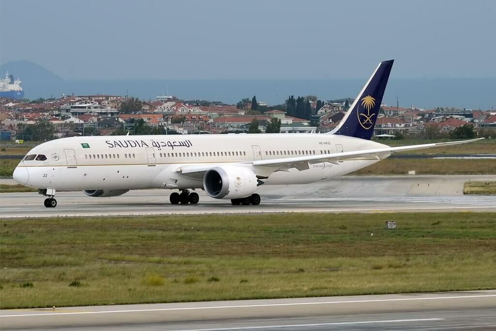 Saudia Boeing 787 9 Dreamliner HZ AR22 at Istanbul Atatürk Airport 1