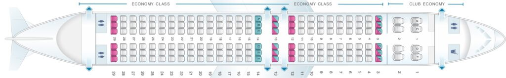 Seat Map and Seating Chart Aerolineas Argentinas Boeing 737 MAX 8