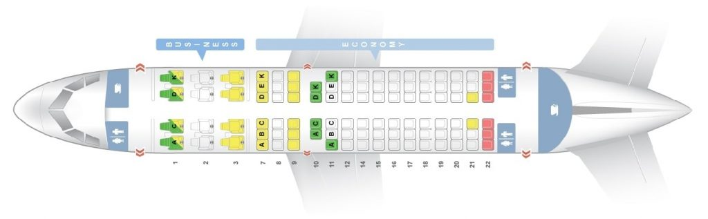 Seat Map and Seating Chart Airbus A318 100 Avianca