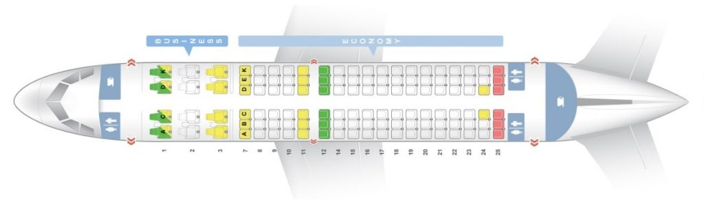 Seat Map and Seating Chart Airbus A319 100 Avianca