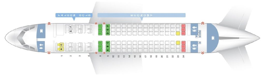 Seat Map and Seating Chart Airbus A320 200 320ER Gulf Air